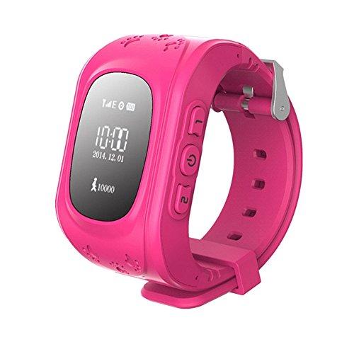 SinoPro Q50 Montre intelligente pour enfants Montre-bracelet pour enfants avec GPS anti-perdu SOS Call Location Finder Télécommande Fonctions du podomètre Contrôle des parents Par iPhone et Android Smartphones