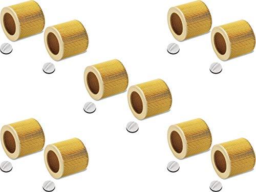 10x original tinta filtro/filtro Set para Kärcher aspirador/aspiradora industrial de/Lavado Aspiradora/aspirador en húmedo–Aspirador/multiusos en seco