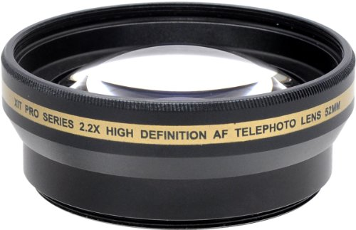 X-it Xit XT2X52 52mm 2.2x Telephoto Lens (Black)