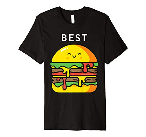 f4d37f2a85ab16 Burger Pommes Frites Best Friend T-Shirts Passende BFF Outfits Tees