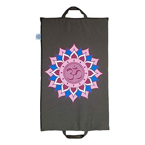 Tapis avec Pointes Brun Acupression avec la Fleur de Lotus de Ohm