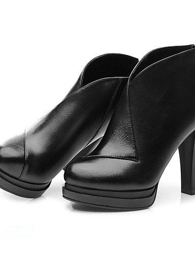 WSS 2016 Chaussures Femme-Habillé / Soirée & Evénement-Noir / Rouge-Talon Cône-Talons-Chaussures à Talons-Similicuir red-us8 / eu39 / uk6 / cn39