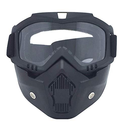 MSYOU Harley Motorradbrille/Schutzbrille für Motorradfahrer, transparente Gläser, UV-Schutz, Sonnenbrille, Fahrrad, Motocross, Geschenk für Freund