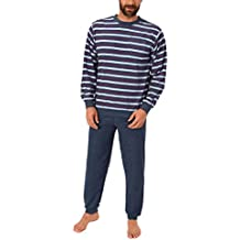 78c02fd469 Eleganter Herren Frottee Pyjama Schlafanzug lang mit Bündchen - 61505