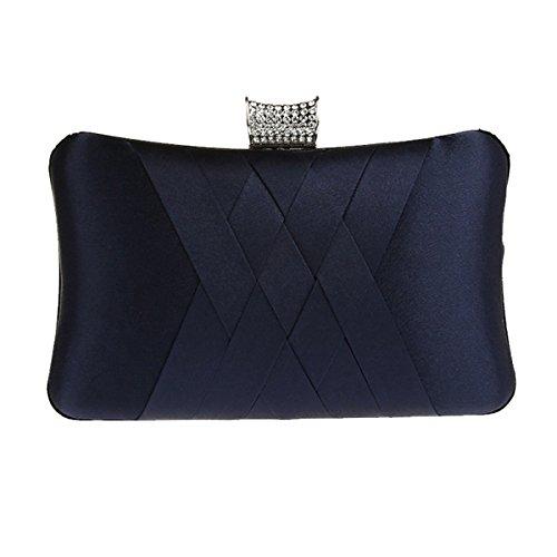 Aronvivi , Damen Clutch Schwarz schwarz Einheitsgröße marineblau