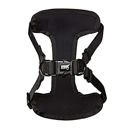 Bunty Soft Comfortable Breathable Fabric Dog Puppy Pet Adjustable Harness Vest - Black - Small 6
