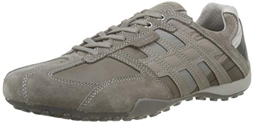 Geox Uomo Snake E, Sneakers Basses Homme, Gris (Stone/Rock...