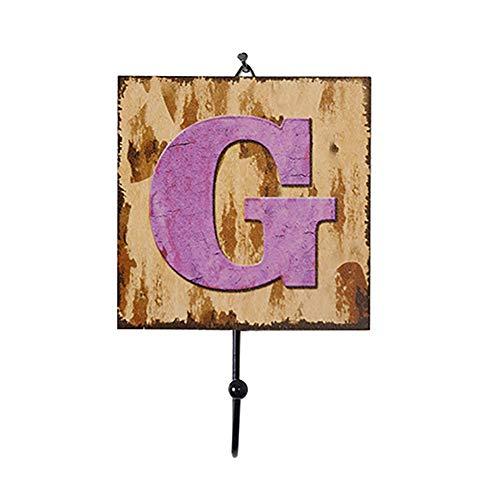 Demarkt Buchstaben Holz Wandhaken Schienen Buchstabe A-Z Muster Holz Haken Badezimmer Haken Dekoration Haken Kleiderhaken Wand-Haken Fest -