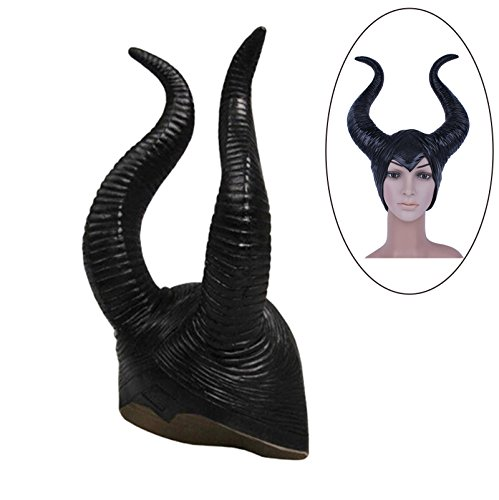 Genuine Latex Maleficent Horns Frauen Halloween Partei Kostüm Cosplay Kopfschmuck Hut