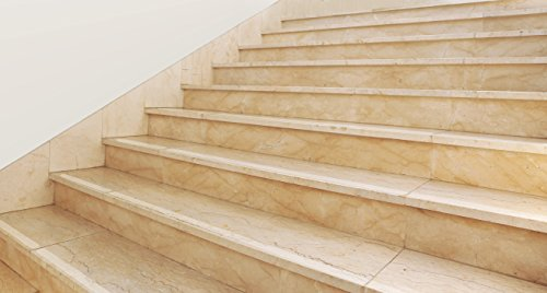 Non-Slip Transparent Embossed for Stairs approx. 80 cm for Dog and Child. Instead of Mats or stair Carpet to prevent slipping, Strumpffreundlich Self-Adhesive Nearly Invisible Slip Protection or Slip Stop for Wood, Tiles Granite and Marble