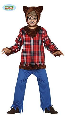 Guirca costume vestito abito travestimento carnevale halloween bambino lupo licantropo, lupo mannaro, uomo lupo (7/9 anni)