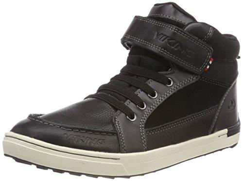 Viking Moss Mid, Chaussures Multisport Outdoor Mixte Enfant, Noir (Black/White), EU