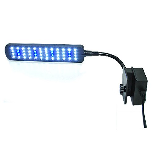Zantec Exquisite LED Aquarium Licht Flexible Arm Clip Pflanzen Fisch Schildkröte Tank Beleuchtung Lampe 28/48 LED Perlen Energiesparende Blau Weiß Lamplight Dekoration (Lampen 48)