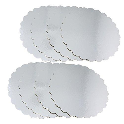 COM-FOUR® 8x Tortenplatte, Kuchenplatte beschichtet, Unterlage zum Dekorieren und Servieren, Ø 30,5 cm (08 Stück - klein)