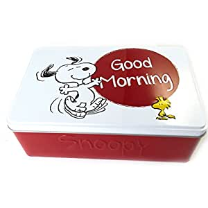 Snoopy [M6149] - Boite à sucre 'Snoopy' blanc rouge (good morning)