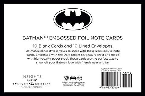 DC Comics: Batman Foil Note Cards (Set of 10)