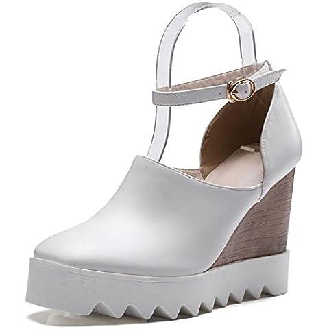 Moda scarpe tacco alto donne/Deep oral spessa fibbia Zeppe