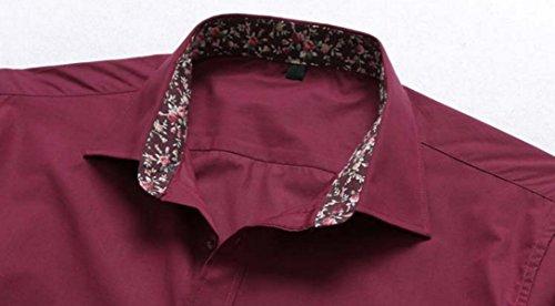 Männer Größe Langarmhemd Lose Freizeithemd Frühling Und Herbst Jacken Blue