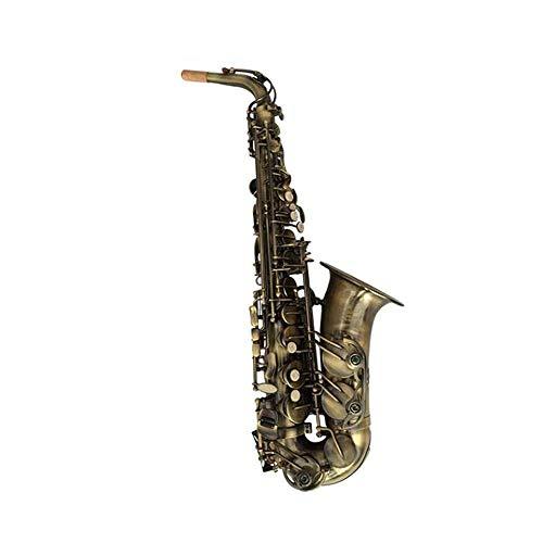 Qiyuezhuangshi01 Saxophon, Antikkupfer Retro Es-Alt Sax, geeignet for Anfänger, um das Spielen von Instrumenten zu üben,Hand geschnitzt -