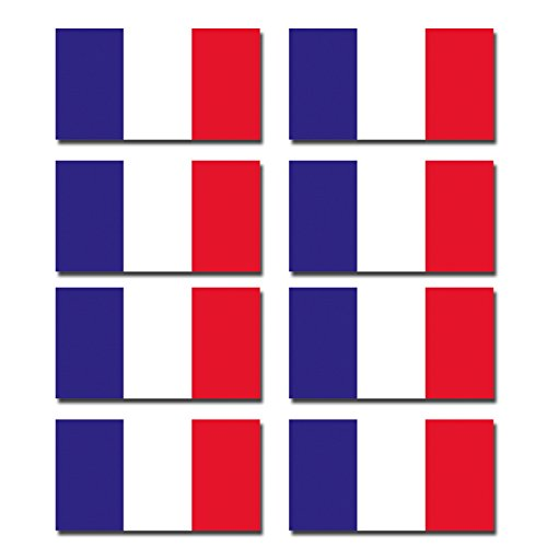 DestinationVinyl DV-0195 Aufkleber, 1.5cm tall x 2.7cm wide, As shown., Stück: 1 (French Flag Bumper Sticker)