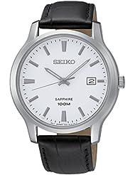 Seiko Herren-Armbanduhr Analog Quarz Leder SGEH43P1