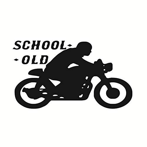 jiushizq Old School Motorrad Wandaufkleber Sport Moto Vinyl Kunst Wandbild Aufkleber Für Hauptdekoration Kinder Schlafzimmer Abnehmbare Tapeten 102 cm X 58 cm