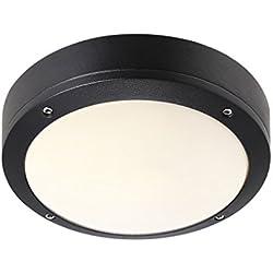 Nordlux 77636003 Desi 22 - Lámpara de techo o pared para exteriores (IP44), color negro