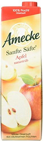 Amecke Sanfte Säfte Apfel Naturtrüb, 6er Pack (6 x 1 l) (Apfelsaft 1 Liter)