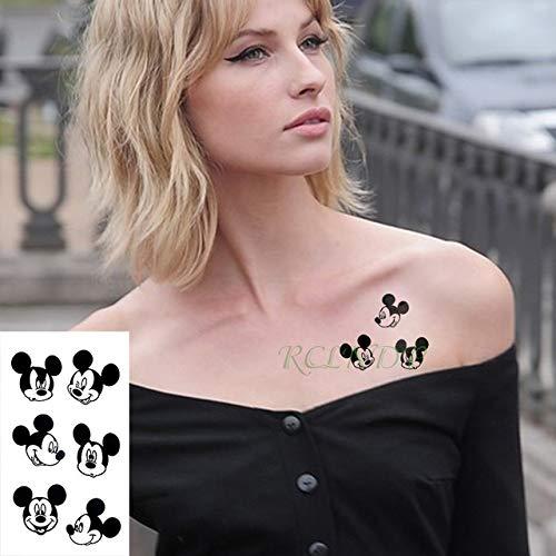 tzxdbh Wasserdichter Tattoo Sticker Eule Tatto Vogel Tier Tattoo Eclipse Tattoos für Männer Women-in Tattoos von Dark Grey
