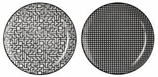 ASA 90908071 Maori - Assiette - Porcelaine - Noir/Blanc - Lot de 2 - Ø 20,3 cm