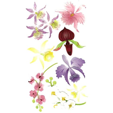 Jolees Le Grande Colorful Orchids Stickers