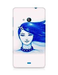 Amez designer printed 3d premium high quality back case cover for Microsoft Lumia 535 (Blue girl shuriken)