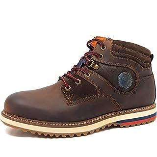 Andiamo Men's Boots Brown Mocha Brown Size: 9.5 UK
