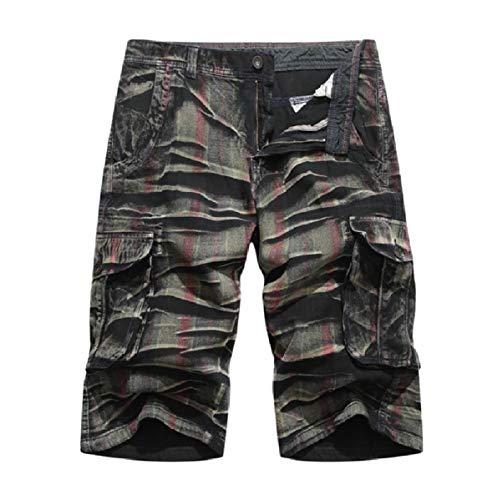 CuteRose Men's Multicamo Back Cotton Rugged Wear Slimming Jeans Boardshort Grey 31 Old Navy Capri-jeans