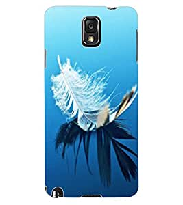 ColourCraft Lovely Feather Design Back Case Cover for SAMSUNG GALAXY NOTE 3