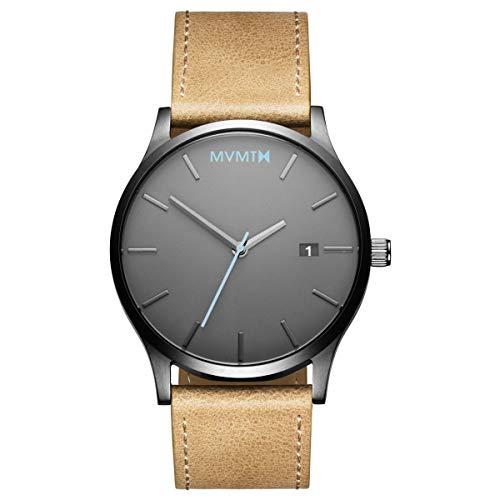 MVMT Watches Classic Herren Uhr Gunmetal/Sandstone Leder Armband MM01GML -