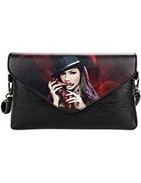 Rrimin Women Handbags PU Leather Lady Messenger Shoulder Bag Envelope Clutch Purse
