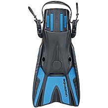 Aquazon - Pinne da sub corte pinne, per adulti, dimensione regolabile, Blau, 42-46