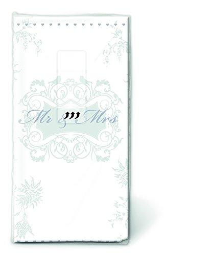 PAPER+DESIGN Motiv Taschentuch FSCMix Mr. Mrs. silver -