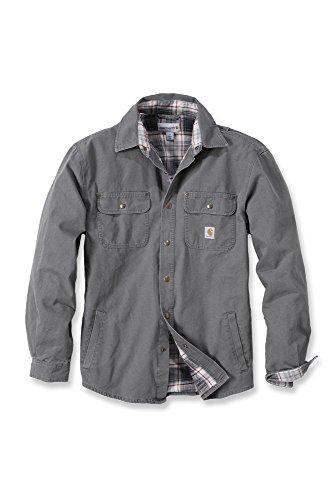 Preisvergleich Produktbild Carhartt Arbeitshemd,  arbeitsshirt,  arbeitsjacke Weathered Canvas Shirt Jacket - Gravel XL