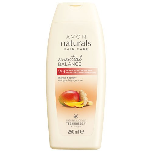 Avon 2-in-1 Naturals Shampoo and Conditioner, Mango and Ginger 250 ml