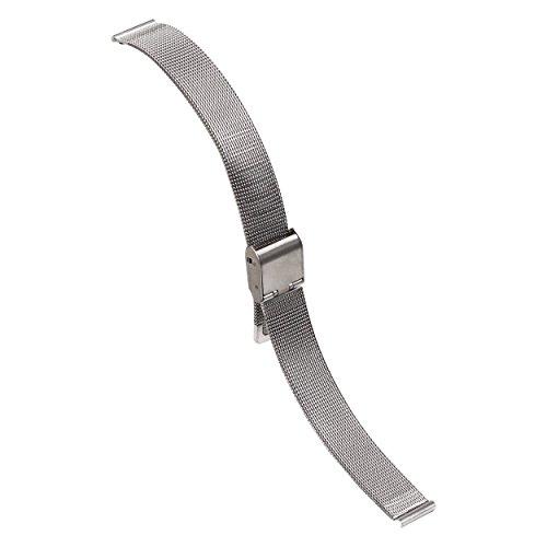 18 millimetri raffinata maglia argento metallo guardare sostituzione...