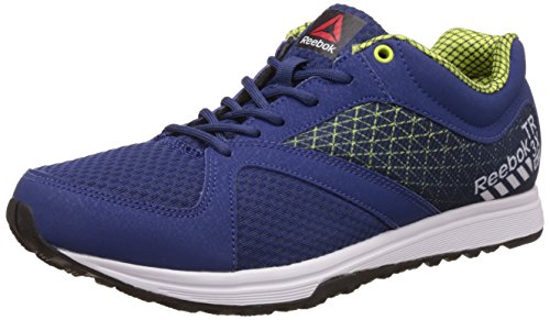 Reebok Men's Reebok Train Blue, Green, Metallic Silver and Black Multisport Training Shoes - 8 UK/India (42 EU)(9 US)
