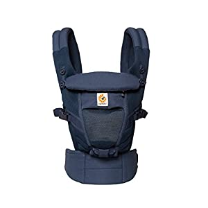 Ergobaby Baby Carrier for Newborn to Toddler up to 20kg, Adapt 3-Position Cool Air Mesh, Deep Blue   15