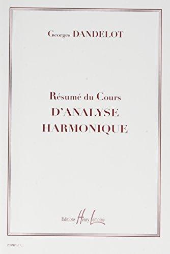 Résumé cours analyse harmonique par Georges Dandelot