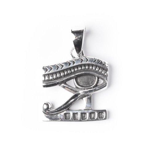 81stgeneration Colgante de Plata De Ley .925 Collar Mujeres Hombres Ojo De Horus De Egipto, 46 ??cm