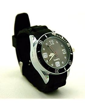 Maxfashion Versteckte Mühle in Armbanduhroptik,strapazierfähige Zähne, echte Uhr, in 3 Farben erhältlich schwarz