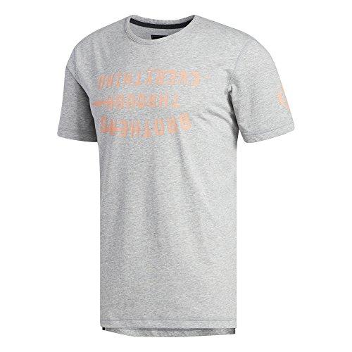 adidas Herren Harden Slogan T-Shirt, Mgreyh, L