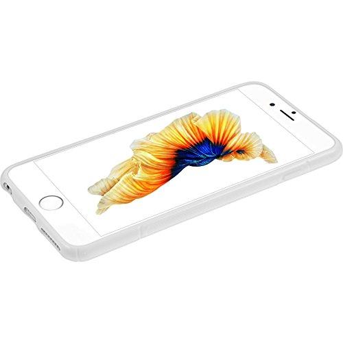 Coque en Silicone pour Apple iPhone 6 Plus / 6s Plus - S-Style noir - Cover PhoneNatic Cubierta + films de protection blanc