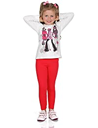 5a6b43b6f64a0 FUTURO FASHION Full Length Cotton Cotton Girls Leggings Plain Pants Kids